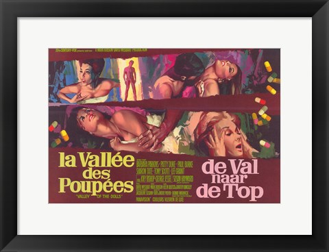 Framed Valley of the Dolls - French Print