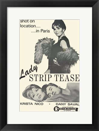 Framed Lady Striptease Print