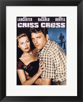 Framed Criss Cross - couple hugging Print