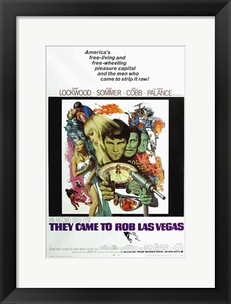 Framed They Came to Rob Las Vegas - Gary Lockwood Print