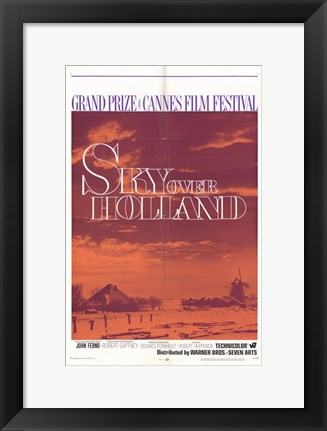 Framed Sky Over Holland Print