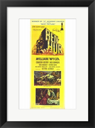 Framed Ben Hur Yellow Tall Print