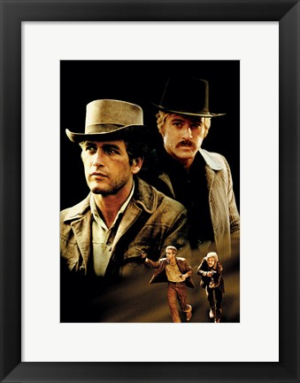 Framed Butch Cassidy and the Sundance Kid Cast Print