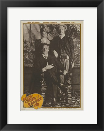 Framed Butch Cassidy and the Sundance Kid Old Time Photo Print