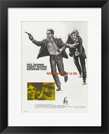 Framed Butch Cassidy and the Sundance Kid Running Print