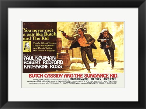 Framed Butch Cassidy and the Sundance Kid Horizontal Print