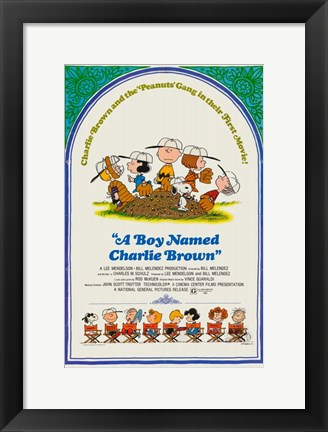 Framed Boy Named Charlie Brown Print