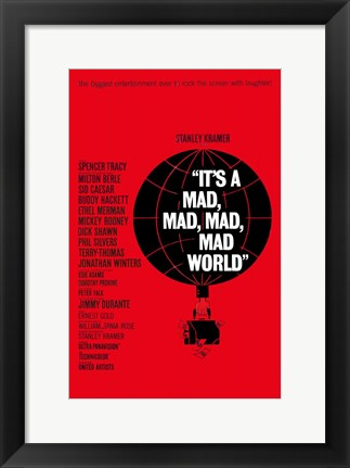 Framed It's a Mad Mad Mad Mad World Print