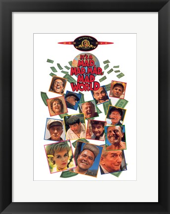Framed It's a Mad Mad Mad Mad World Cast Print