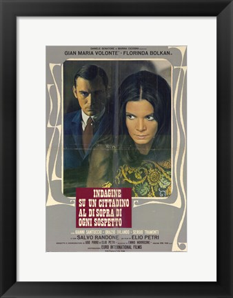 Framed Investigation of a Citizen Above Suspicion - serious man and woman Print