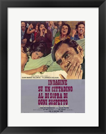 Framed Investigation of a Citizen Above Suspicion - men yelling Print