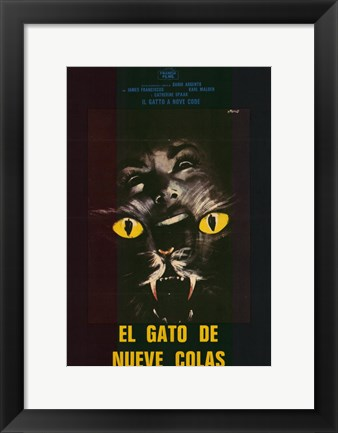 Framed Cat o' Nine Tails Print
