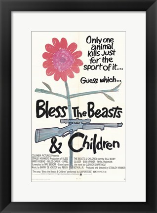 Framed Bless the Beasts and Children Movie Print