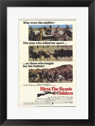 Framed Bless the Beasts and Children Print