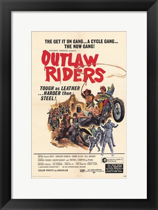 Framed Outlaw Riders Print
