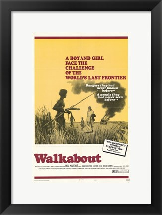 Framed Walkabout Movie Poster Print
