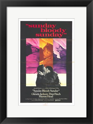 Framed Sunday Bloody Sunday Glenda Jackson Print
