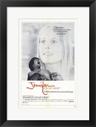 Framed Jennifer on My Mind Print