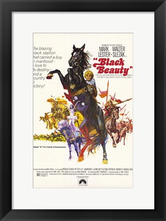 Framed Black Beauty Print