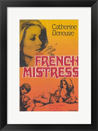 Framed French Mistress Print