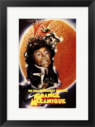Framed Clockwork Orange Crazy Print