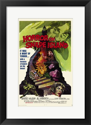 Framed Horror on Snape Island Print