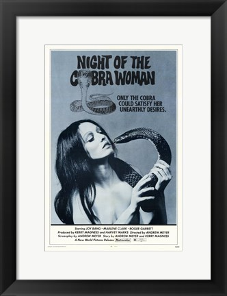 Framed Night of the Cobra Woman Print
