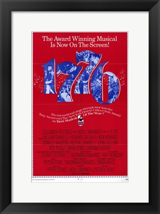 Framed Seventeen-Seventy-Six (1776) Musical In Red Print
