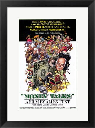 Framed Money Talks By Allen Funt Print