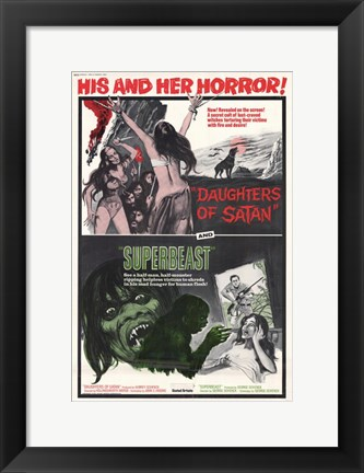 Framed Daughters of Satan/Superbeast Print