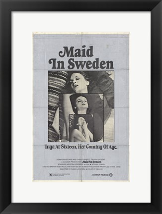 Framed Maid in Sweden Print