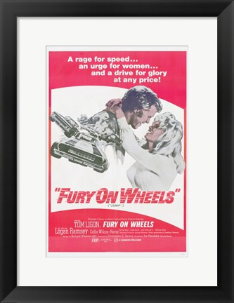 Framed Fury on Wheels Print