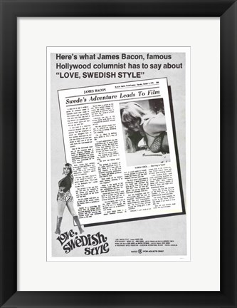 Framed Love Swedish Style Print