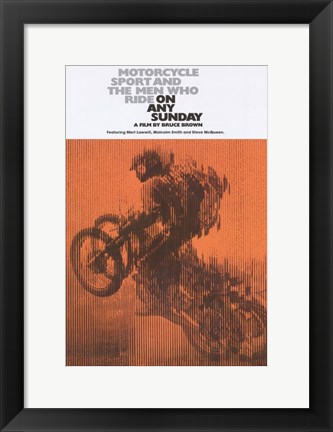 Framed On Any Sunday - Motorcycle rider Print