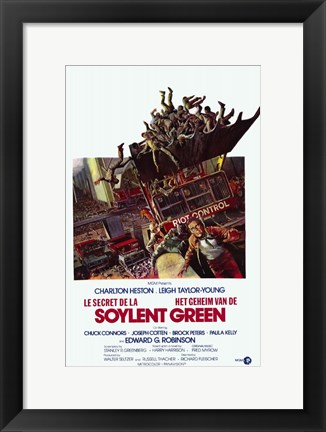 Framed Soylent Green Charlton Heston Print