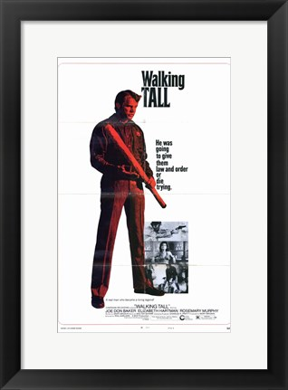 Framed Walking Tall Baseball Bat Print