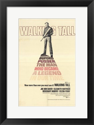 Framed Walking Tall Buford Pusser the Man Print
