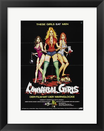 Framed Cannibal Girls Print