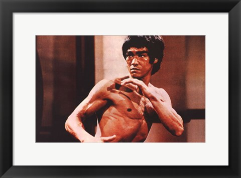 Framed Enter the Dragon Karate Action Print