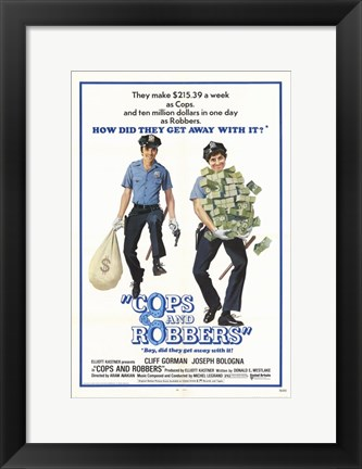 Framed Cops and Robbers Print