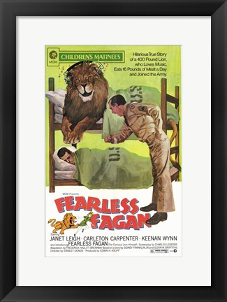 Framed Fearless Fagan Print
