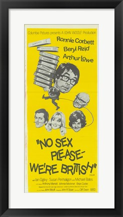 Framed No Sex Please Were British Print