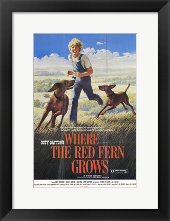 Framed Where the Red Fern Grows - running Print