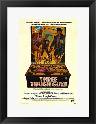 Framed Three Tough Guys (movie poster) Print