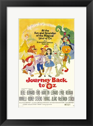 Framed Journey Back to Oz Print