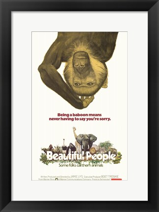 Framed Beautiful People Print