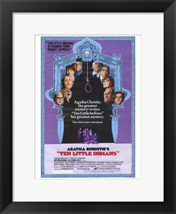 Framed Ten Little Indians Print