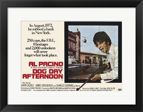 Framed Dog Day Afternoon - Horizontal Print