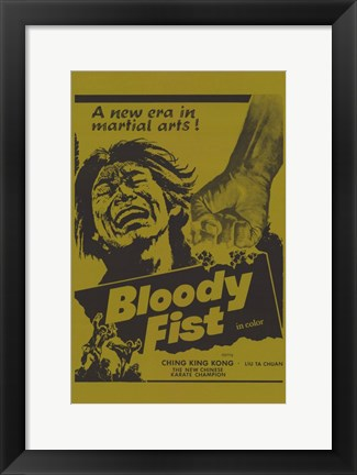 Framed Bloody Fist Print