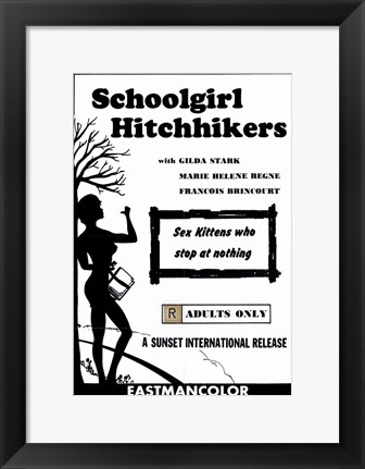 Framed Schoolgirl Hitchhikers Print